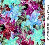 nature flowers and leaves... | Shutterstock . vector #457919131