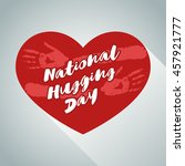 national hugging day holiday... | Shutterstock .eps vector #457921777