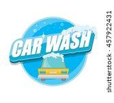 vector car wash icons set... | Shutterstock .eps vector #457922431
