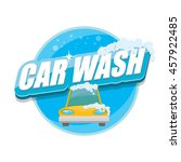 vector car wash icons set... | Shutterstock .eps vector #457922485