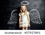 Pretty Little Angel Girl. Cute...