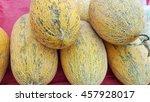 fresh organic cantaloupes at... | Shutterstock . vector #457928017