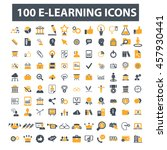 learning icons | Shutterstock .eps vector #457930441