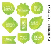 green eco food labels. health... | Shutterstock .eps vector #457934431