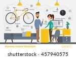 business creative illustration. ... | Shutterstock .eps vector #457940575
