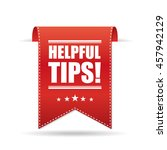 helpful tips | Shutterstock .eps vector #457942129