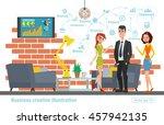 business creative illustration. ... | Shutterstock .eps vector #457942135