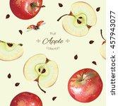 Vector Apple Seamless Pattern....