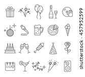 outline web icon set   party ... | Shutterstock .eps vector #457952599