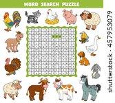 vector color crossword ... | Shutterstock .eps vector #457953079