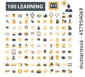learning icons | Shutterstock .eps vector #457954069
