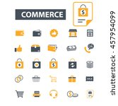 commerce icons | Shutterstock .eps vector #457954099