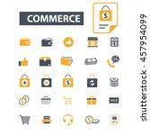 commerce icons | Shutterstock .eps vector #457954099