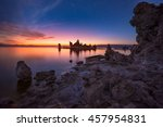 beautiful calm sunrise at mono... | Shutterstock . vector #457954831