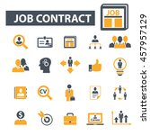 job contract icons | Shutterstock .eps vector #457957129