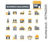 business buildings icons | Shutterstock .eps vector #457962055