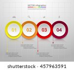 infographics step by step.... | Shutterstock .eps vector #457963591
