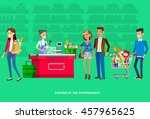 concept illustration for shop.... | Shutterstock .eps vector #457965625