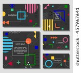 set of artistic colorful... | Shutterstock .eps vector #457967641