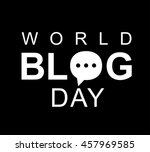 world blog day card. concept of ...