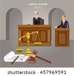 law horizontal banner set with... | Shutterstock .eps vector #457969591