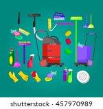poster design for cleaning...   Shutterstock .eps vector #457970989