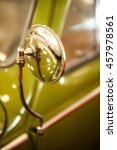 Vintage Car Chrome Rear View...