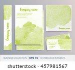 elegant watercolor floral... | Shutterstock .eps vector #457981567