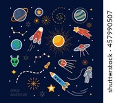 collection of spaceship ...   Shutterstock .eps vector #457990507