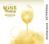 design template list  wine... | Shutterstock .eps vector #457995904