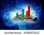 3d rendering business graph | Shutterstock . vector #458007631