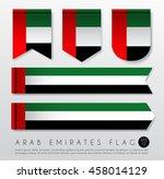 set of world flag ribbon...   Shutterstock .eps vector #458014129