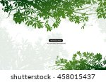 trees and branches silhouette... | Shutterstock .eps vector #458015437