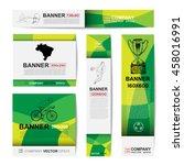 abstract sport banner for... | Shutterstock .eps vector #458016991