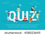 quiz flat concept illustration... | Shutterstock .eps vector #458023645