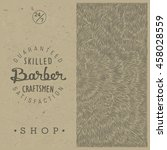stylish retro template for... | Shutterstock .eps vector #458028559