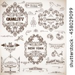 set of design elements  page... | Shutterstock .eps vector #458029099