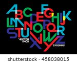 vector of stylized modern font... | Shutterstock .eps vector #458038015