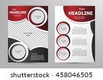 vector flyer template design.... | Shutterstock .eps vector #458046505