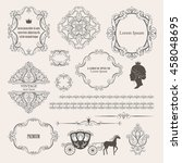 mega set collections of vintage ... | Shutterstock . vector #458048695