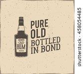 vintage handcrafted label ... | Shutterstock .eps vector #458054485