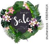vector flyer of summer sale.... | Shutterstock .eps vector #458054614