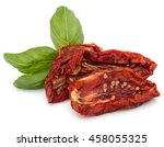 dried tomatoes isolated on... | Shutterstock . vector #458055325