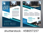business brochure flyer design... | Shutterstock .eps vector #458057257