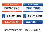 car number plates license set... | Shutterstock .eps vector #458065315