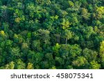aerial shot of a lush tropical... | Shutterstock . vector #458075341
