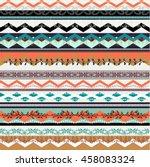 ethnic boho seamless pattern.... | Shutterstock .eps vector #458083324