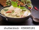 green chicken curry thai cuisine | Shutterstock . vector #458085181