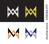initials with letter m and... | Shutterstock .eps vector #458086195