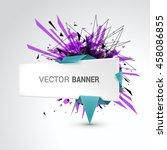 white origami paper banner... | Shutterstock .eps vector #458086855